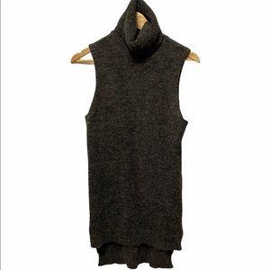 VERO MODA Knit Sleeveless Turtleneck Tunic Top S